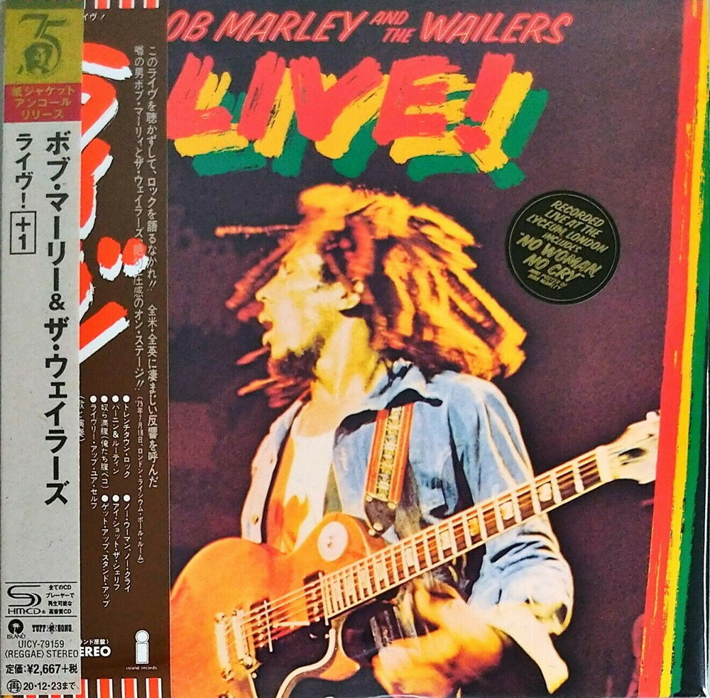 Bob Marley & The Wailers - Live (Jmlp) (Ltd) (Post) (Wb) (Rmst) (Shm) (Jpn)