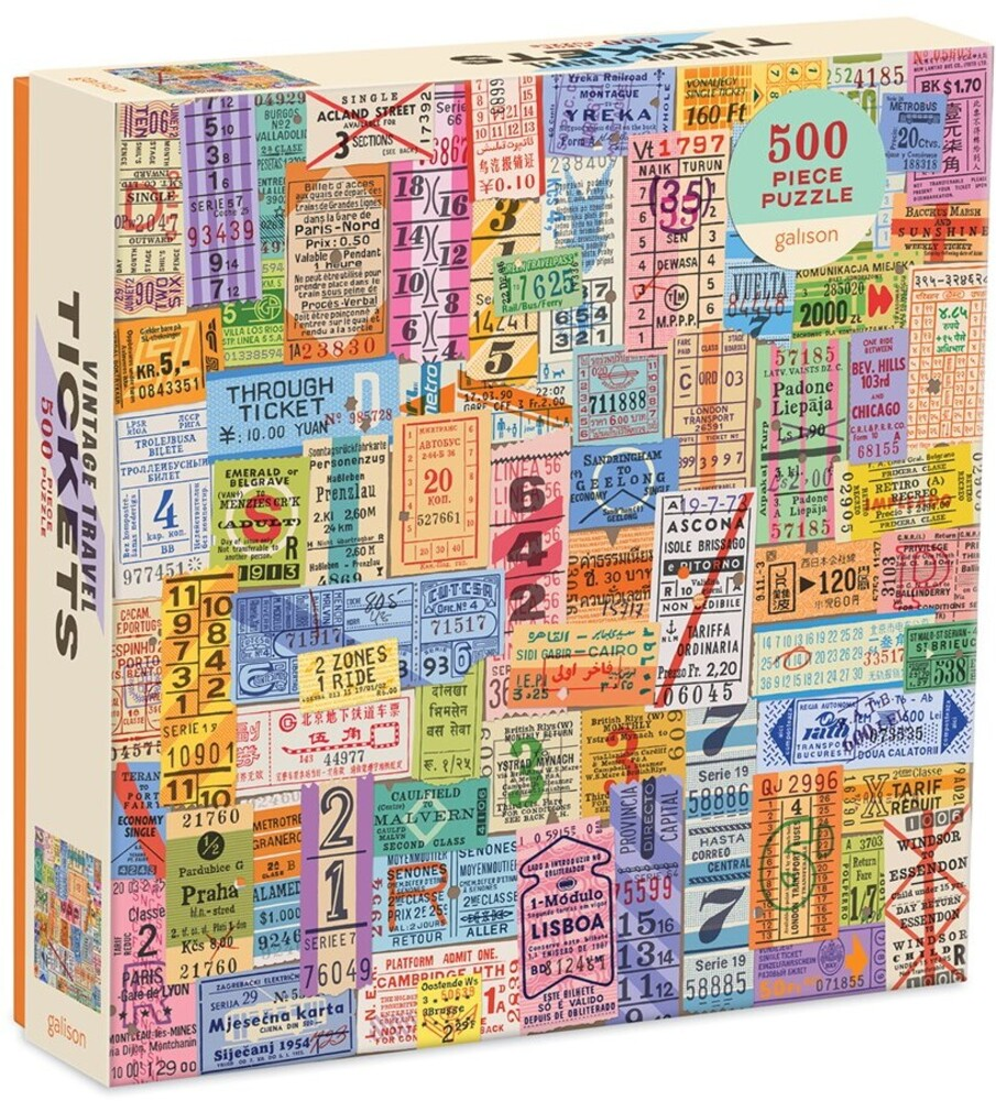 - Vintage Travel Tickets 500 Piece Puzzle