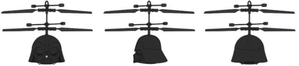 Ufo Helicopter - Star Wars: Darth Vader Sculpted Head UFO Helicopter (Star Wars)