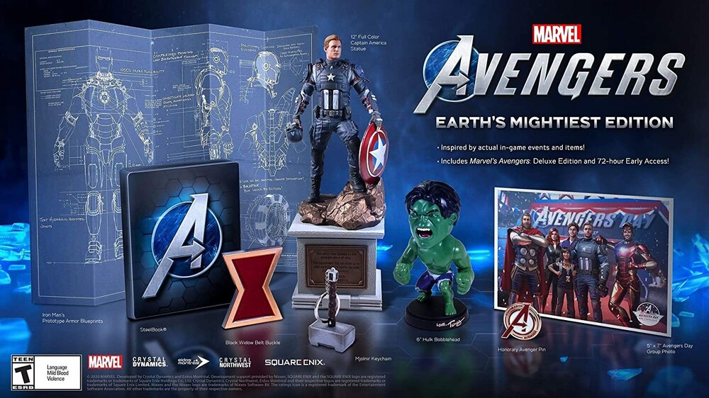 Ps4 Marvels Avengers Earths Mightiest Coll Ed - Marvel's Avengers: Earth's Mightiest Edition for PlayStation 4