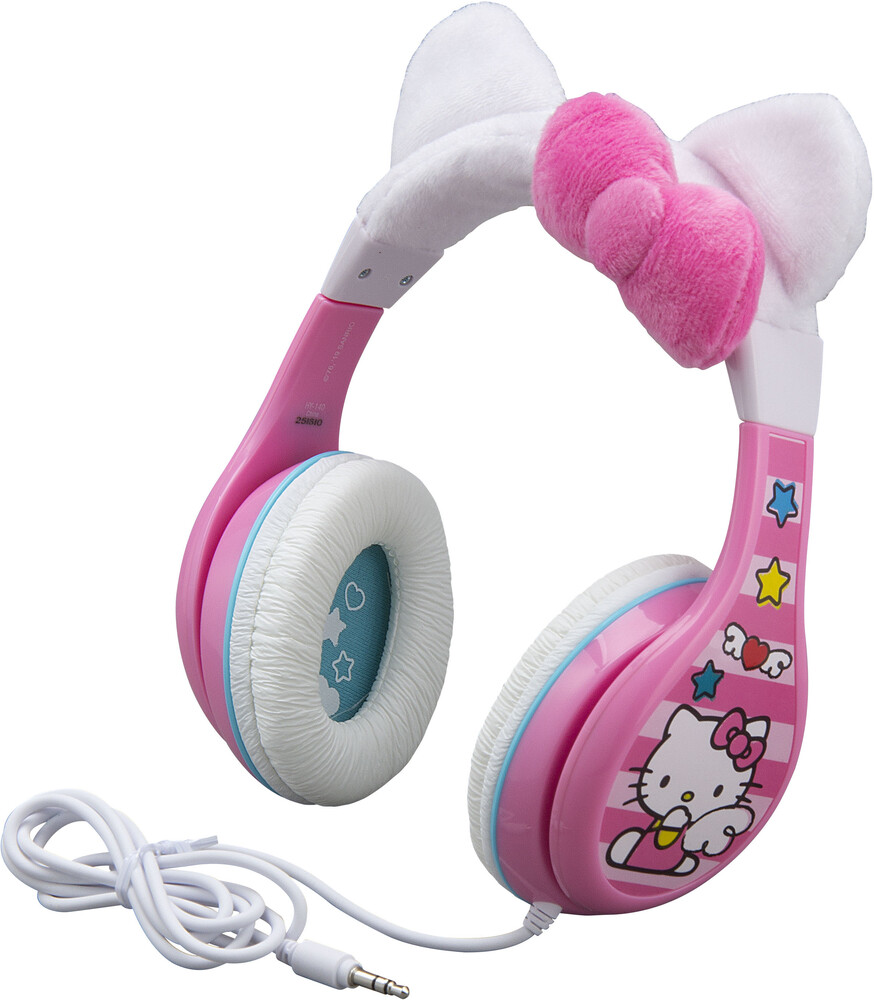 Hello Kitty Hy-140.Exv9 Yth Hdphn Kitty Ears Pink - Hello Kitty HY-140.EXV9 Youth Headphones On Ear with Kitty EarsInclude Volume Limiter (Pink)