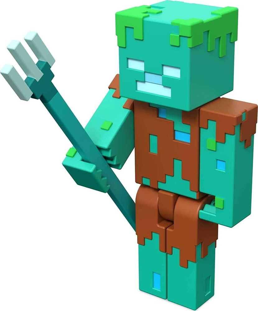 - Mattel Collectible - Minecraft 3.25 Drowned