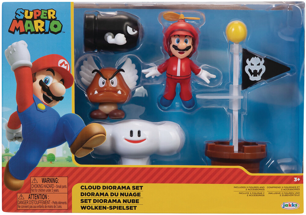 - Nintendo 2-1/2in Cloud Diorama Set Cs (Clcb) (Fig)