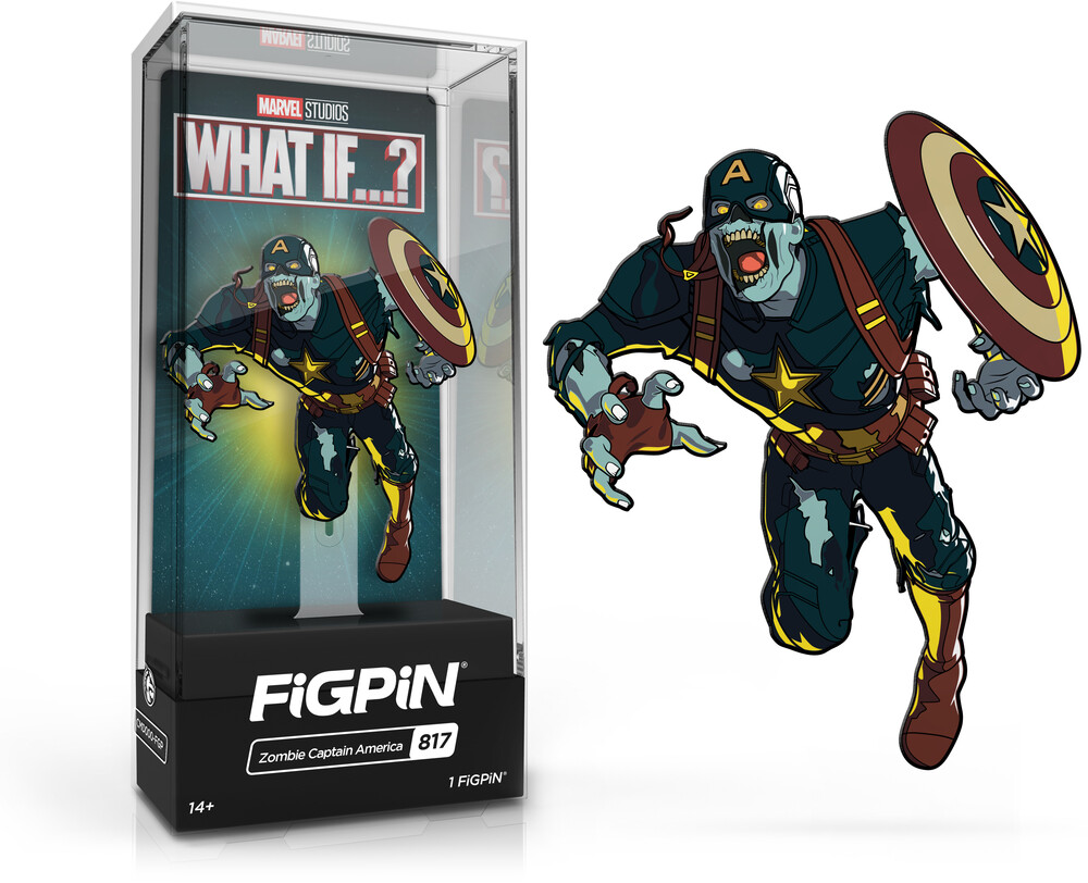 Figpin Marvel What If? Zombie Captain America #817 - Figpin Marvel What If? Zombie Captain America #817