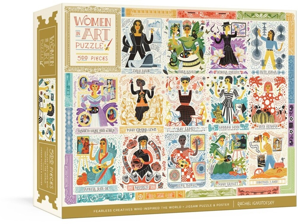 - Women in Art Puzzle: Fearless Creatives Who Inspired the World500-Piece Jigsaw Puzzle and Poster: Jigsaw Puzzles for Adults andJ