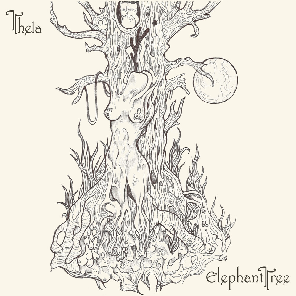 Elephant Tree - Theia (White & Gold Galaxy Pattern Vinyl)