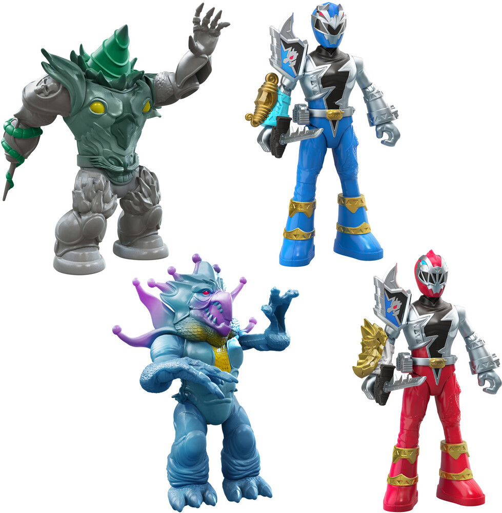Prg Drm Oct Ast - Hasbro Collectibles - Power Rangers Dino Fury Battle AttackersAssortment