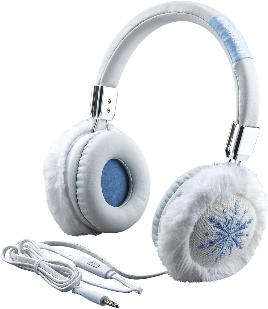 Frozen II Fr-M48.Exv9M Faux Fur Hdphn Mic Blu/Wht - Frozen II FR-M48.EXV9M Faux Fur headphones With Microphone(Blue/White)