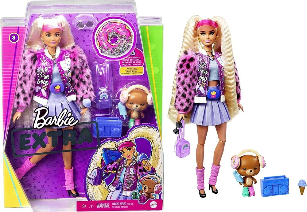 Barbie - Mattel - Barbie Extra Doll, Blonde with Pigtails