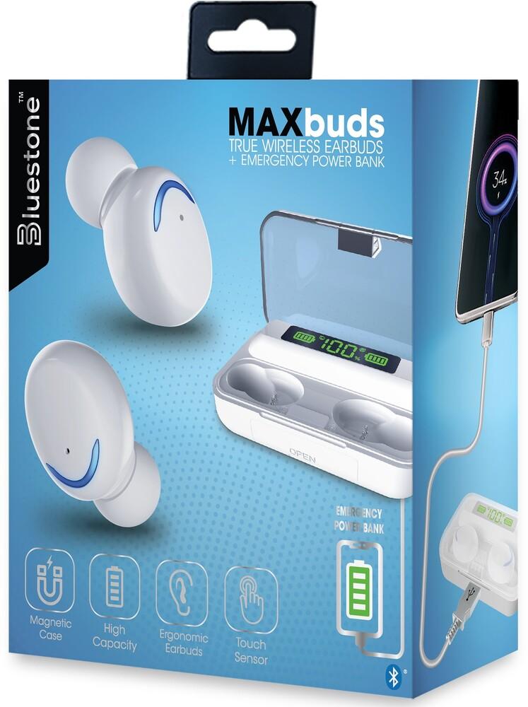 - Bluestone Tws21wh Maxbuds Tw Earbuds W/Power Cs Wh