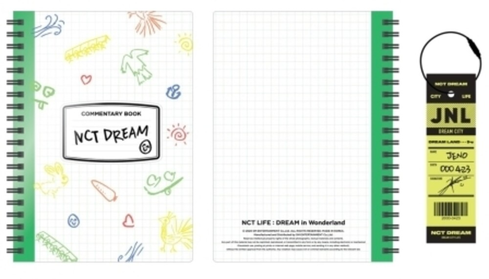NCT Dream - NCT Life : Dream In Wonderland Commentary Book + Luggage Tag Set[Jeno]