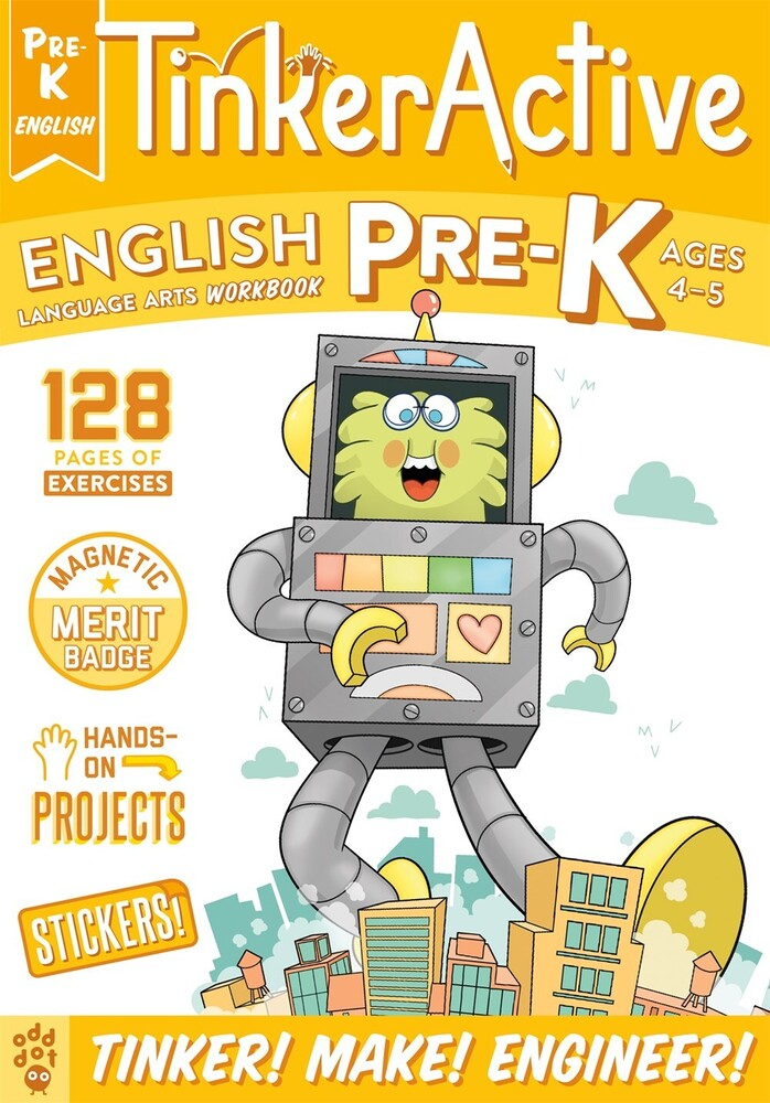 - TinkerActive Workbooks: Pre-K English Language Arts