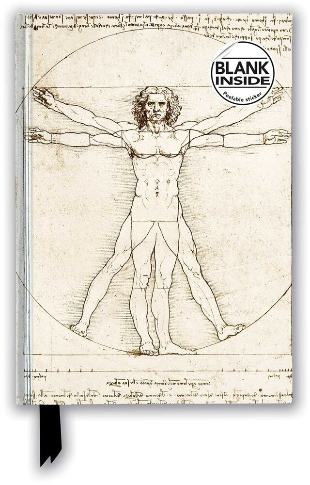 Flame Tree Studio - Leonardo da Vinci: Vitruvian Man: Foiled Blank Journal