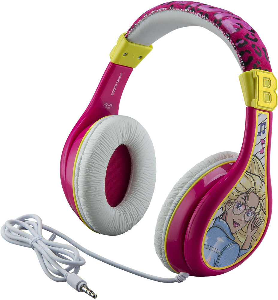 Barbie Be-140.Exv0 Youth Headphones Pink - Barbie BE-140.EXV0 Youth Headphones On Ear With Volume Limiting (Pink)