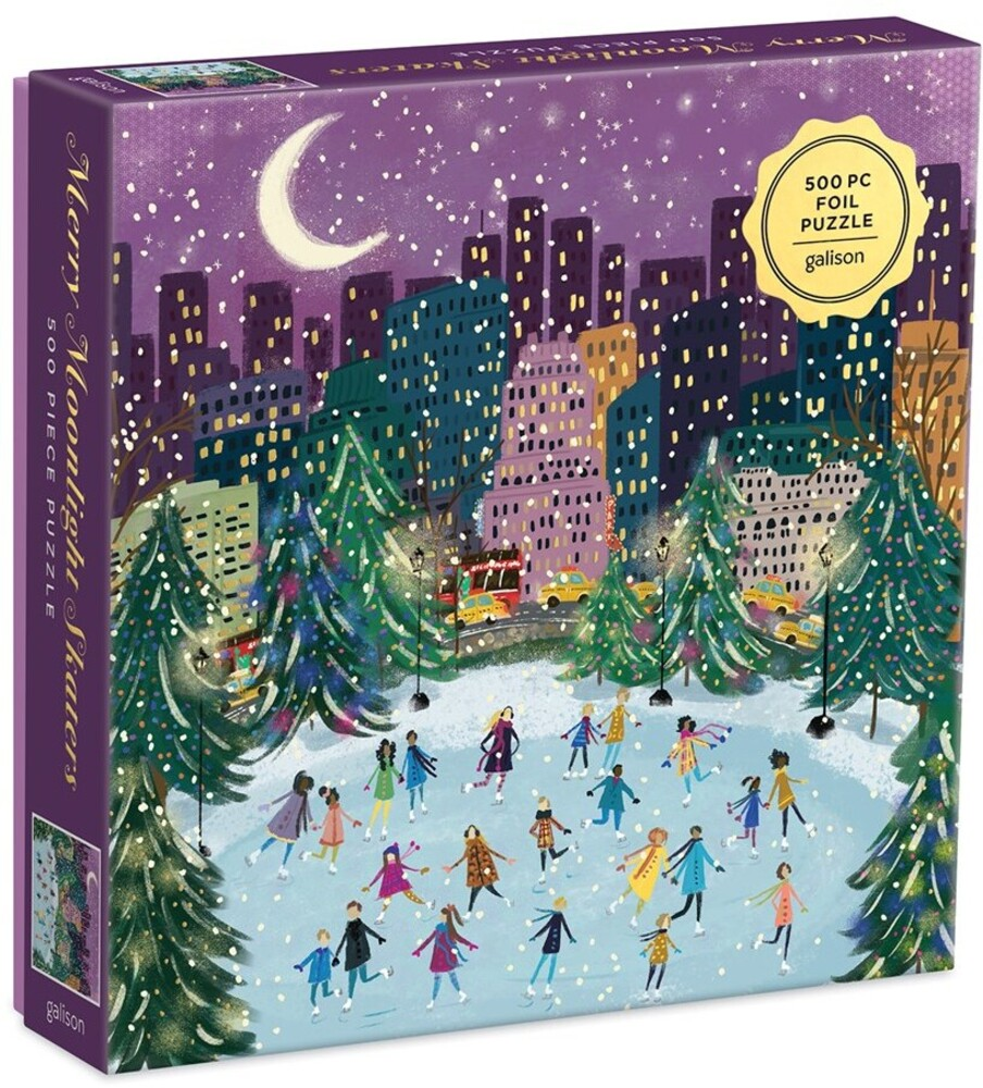 - Merry Moonlight Skaters 500 Piece Foil Puzzle
