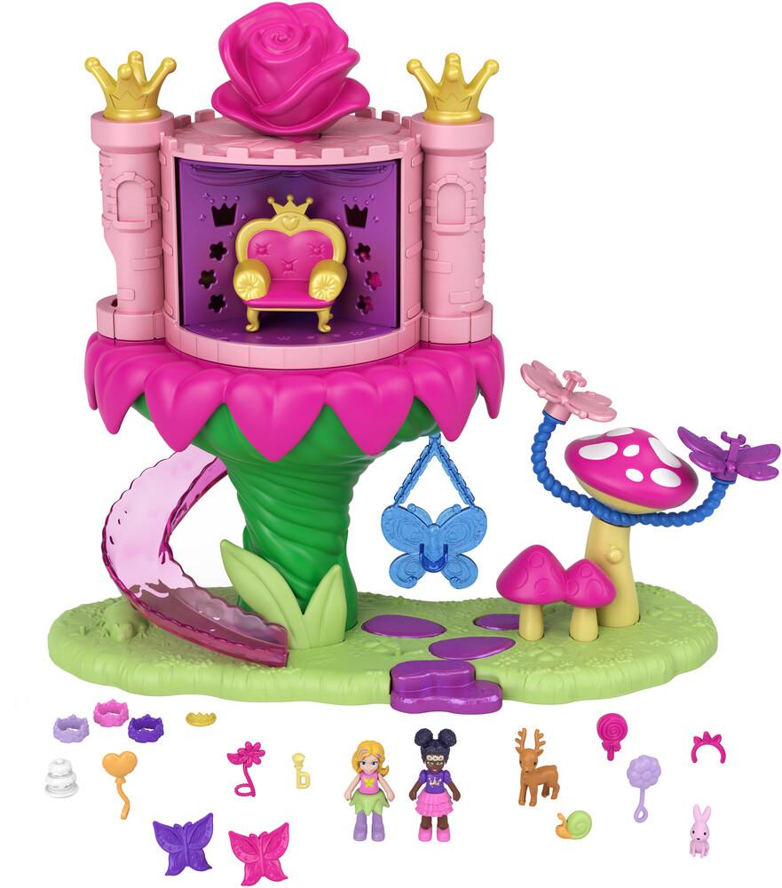 Polly Pocket - Mattel - Polly Pocket Fantasy Fairy Princess Dispensing Castle Ride