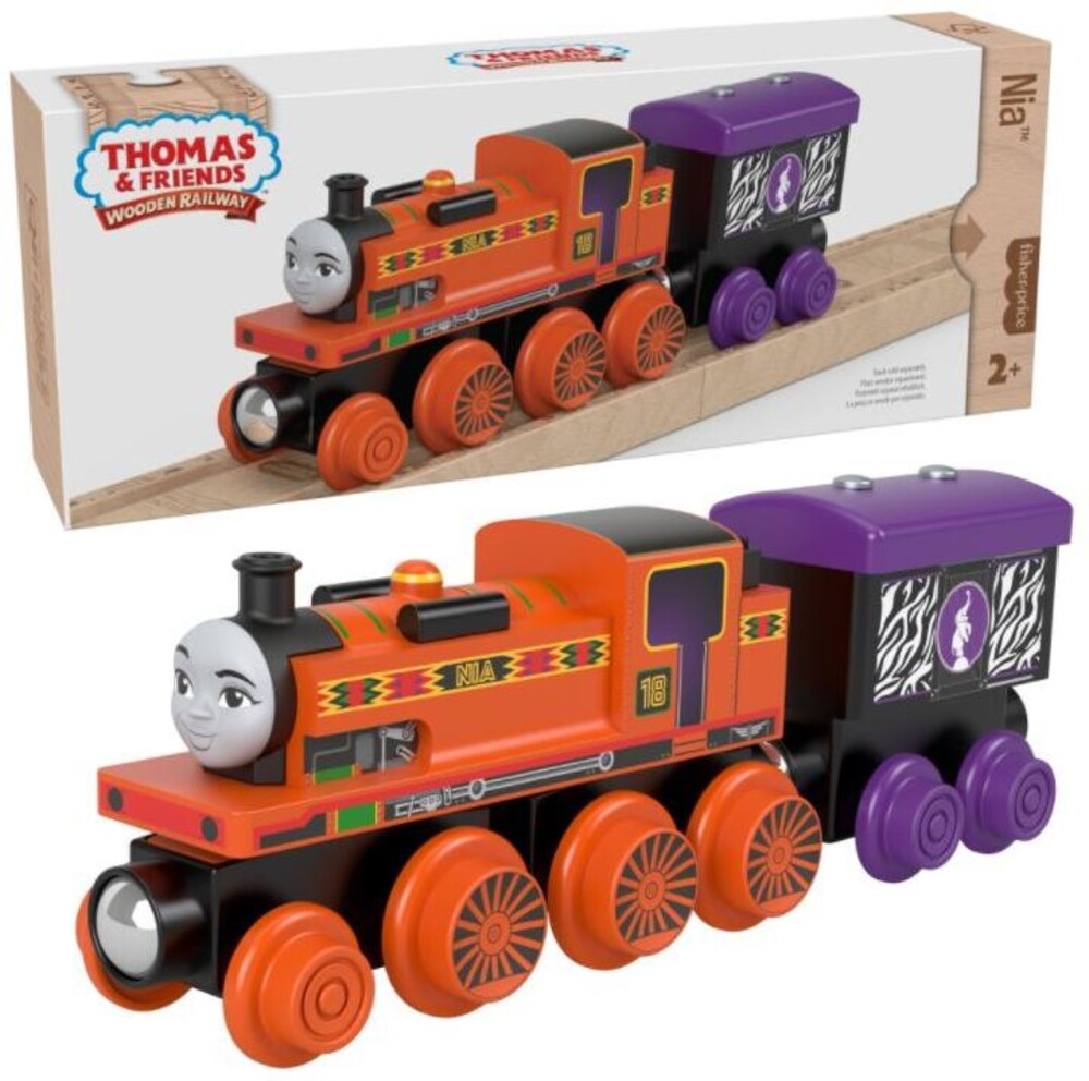 Thomas and Friends Wooden Railway - Thomas And Friends Wood Nia Engine & Car (Wood)