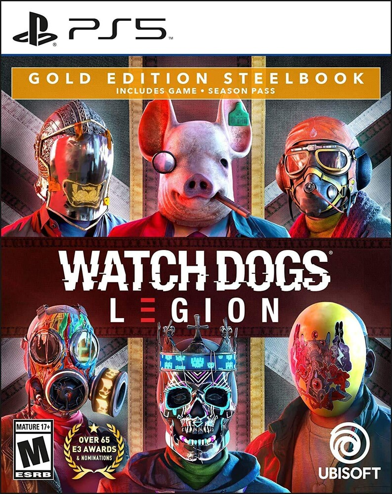 Ps5 Watch Dogs: Legion Steelbook Gold Ed - Watch Dogs: Legion SteelBook Gold Edition for PlayStation 5