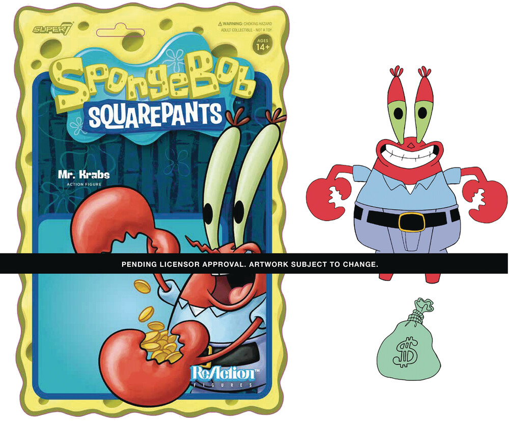 Spongebob Reaction Wave 1 - Mr. Krabs - Super7 - Spongebob ReAction Wave 1 - Mr. Krabs