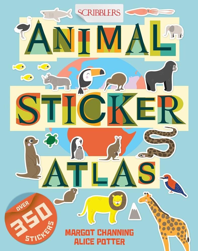 Margot Channing  / Potter,Alice - Animal Sticker Atlas (Ppbk) (Stic)