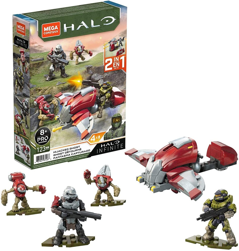 Mega Bloks Halo - MEGA Brands - HALO Infinite Hijacked Ghost Vehicle