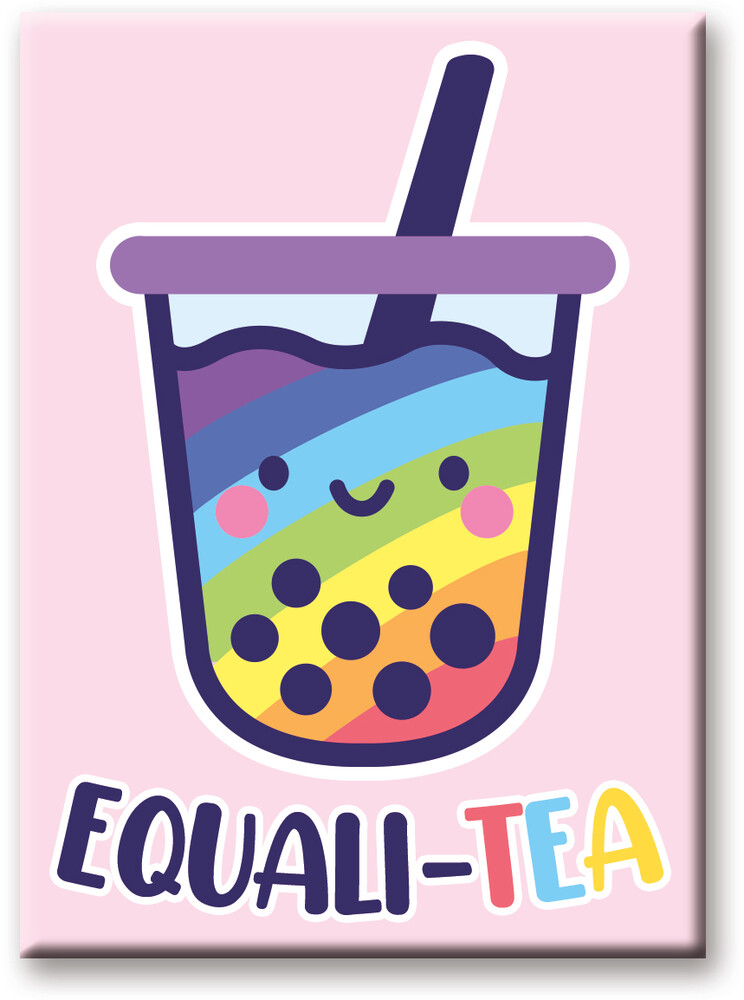 Pride Equali-Tea 2.5 X 3.5 Flat Magnet - Pride Equali-Tea 2.5 x 3.5 Flat Magnet