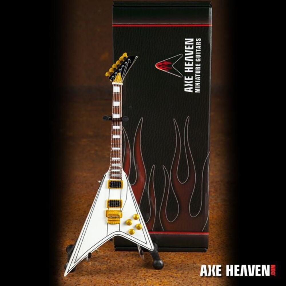 - Randy Rhoads Signature White Flying V Mini Guitar