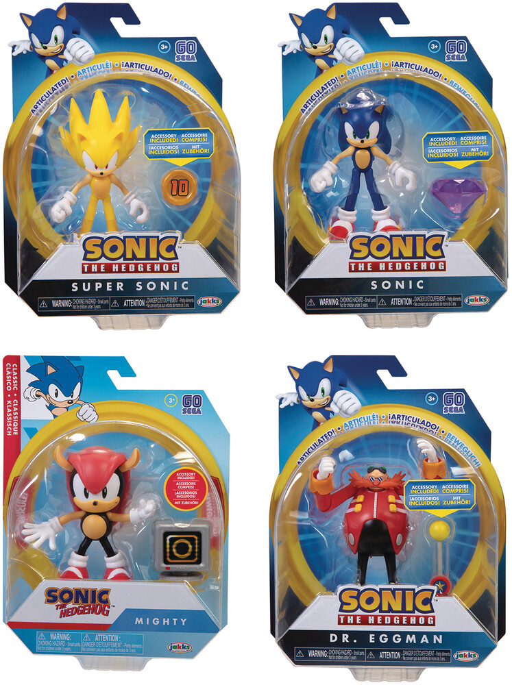 - Sonic The Hedgehog 4in Articulated Af Wave 3 Assor