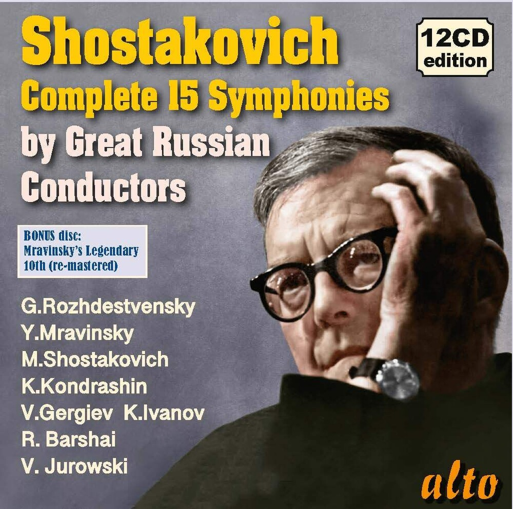 Yevgeni Mravinsky / Rozhdestvensky,Gennadi - SHOSTAKOVICH Complete Symphonies; Legendary Russian Conductors