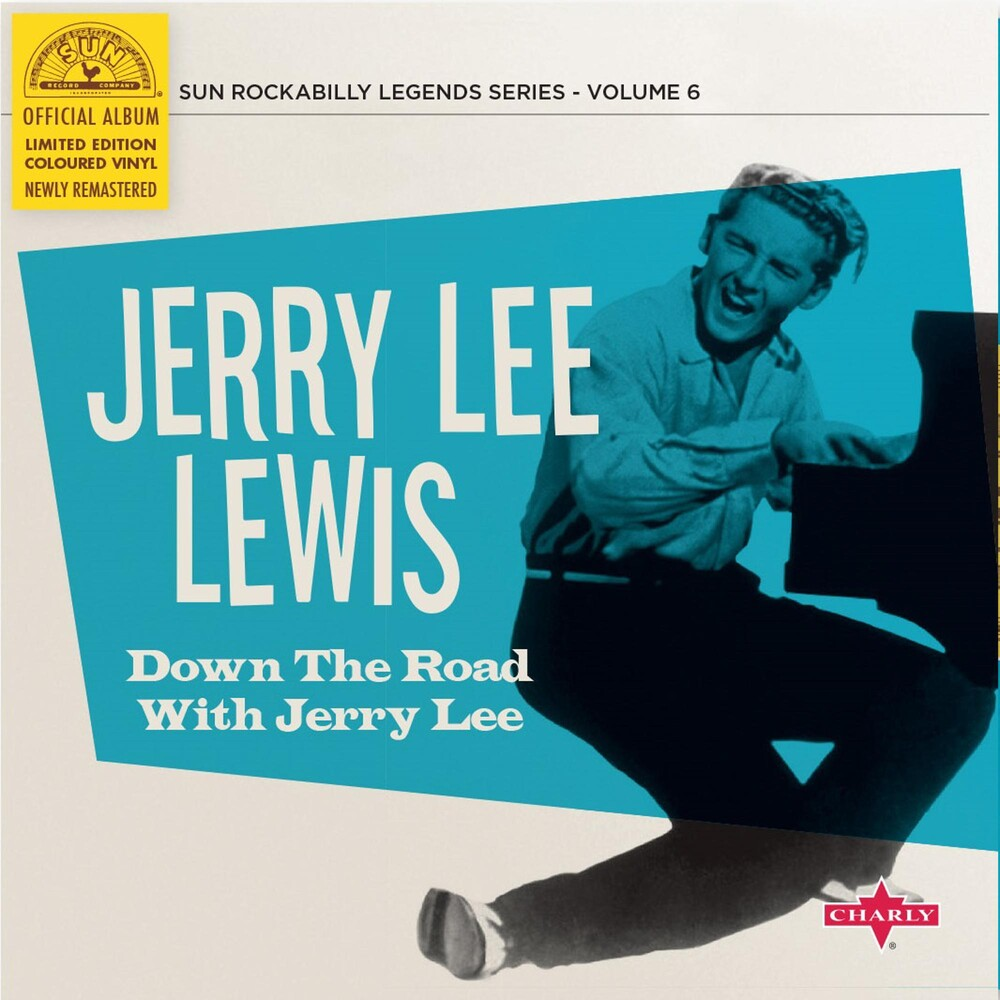 Jerry Lewis Lee - Down The Road With Jerry Lee (10in) (Blue) [Colored Vinyl]