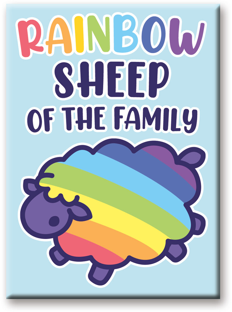 Pride Rainbow Sheep 2.5 X 3.5 Flat Magnet - Pride Rainbow Sheep 2.5 x 3.5 Flat Magnet