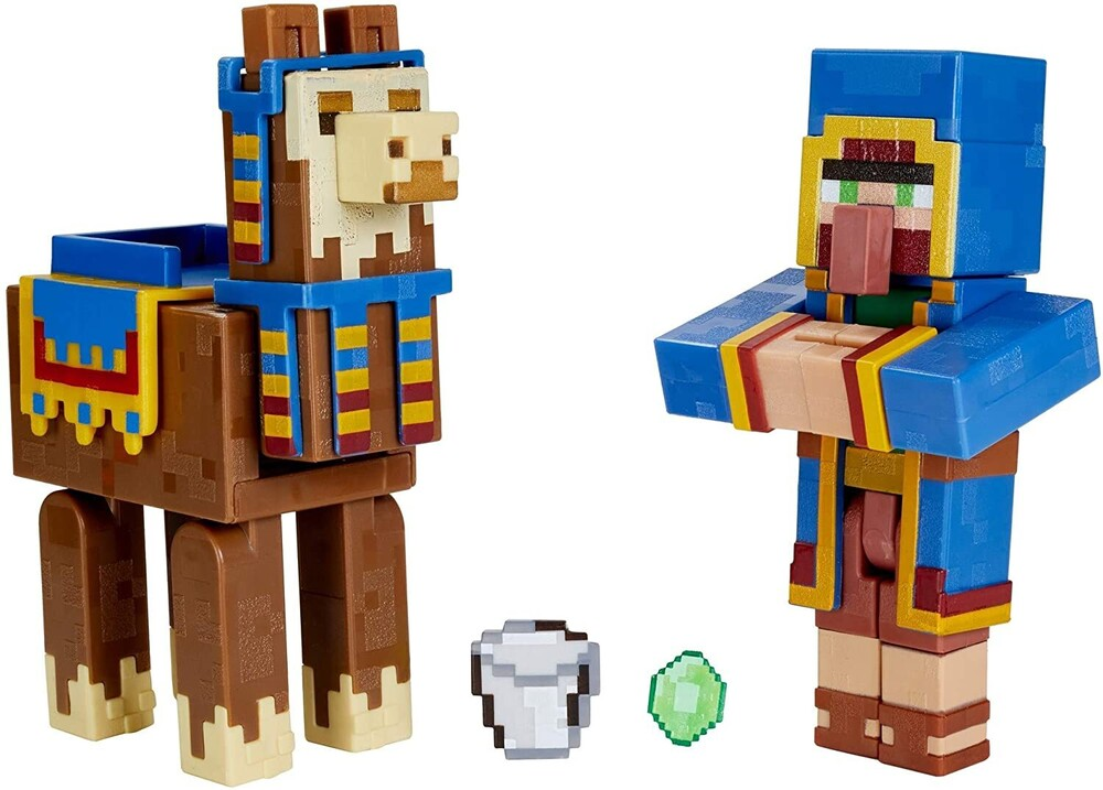 - Mattel Collectible - Minecraft Wandering Trader And Llama