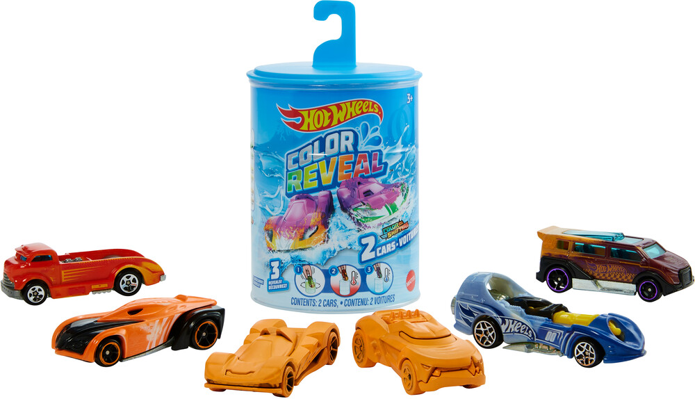 Hot Wheels - Mattel - Hot Wheels Color Reveal 2-Pack, One Surprise Color Reveal with Each Transaction