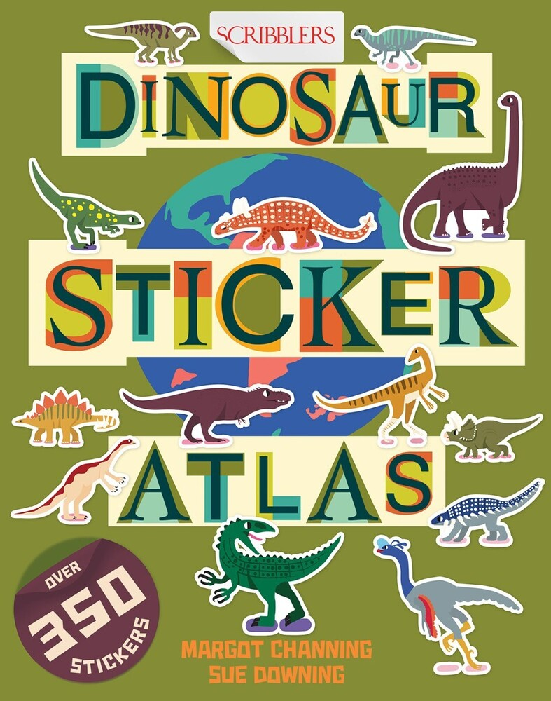 Margot Channing  / Downing,Sue - Dinosaur Sticker Atlas (Ppbk) (Stic)