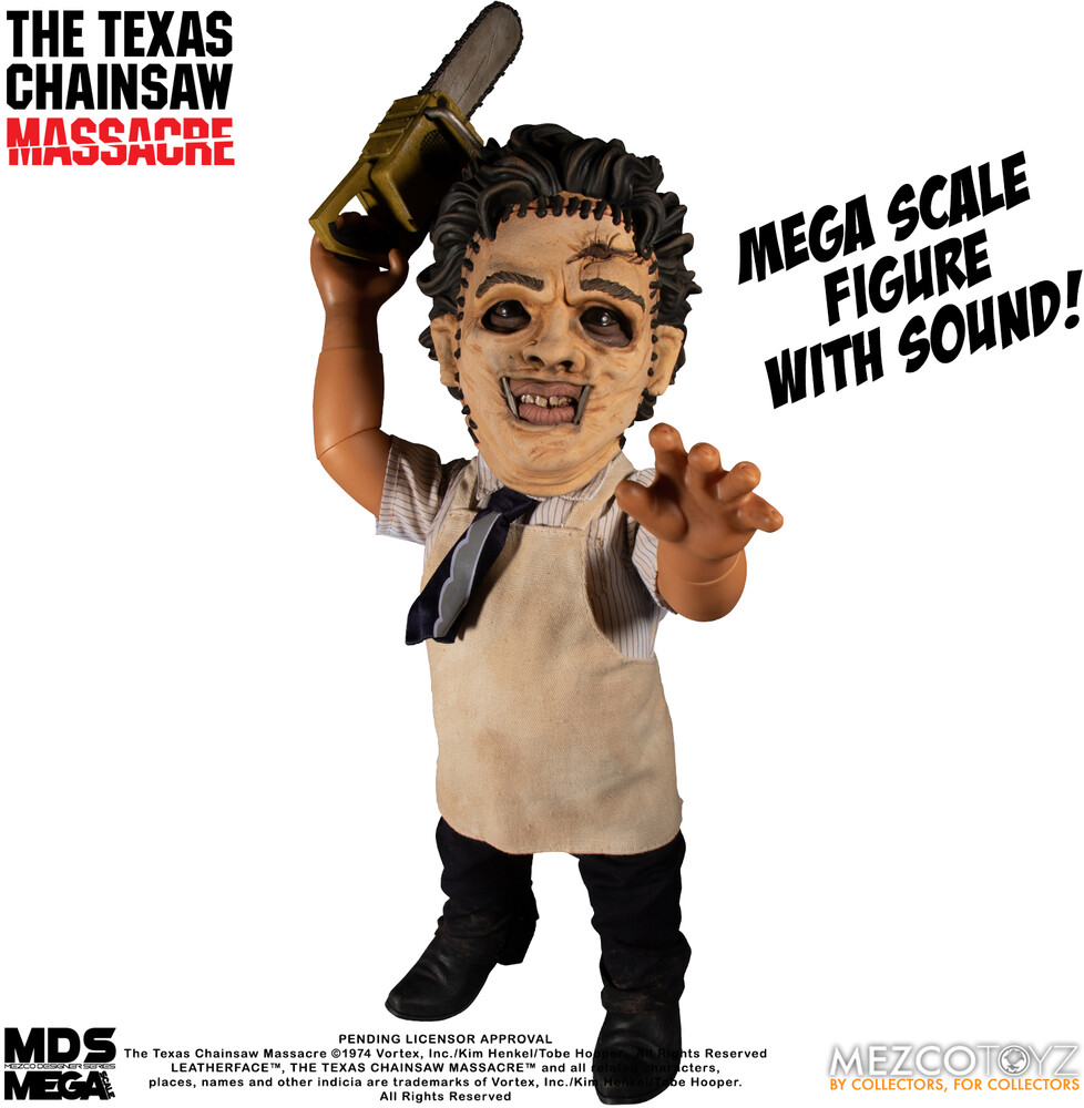 Mds Mega Scale the Texas Chainsaw Massacre (1974) - Mezco Designers Series Mega Scale: The Texas Chainsaw Massacre (1974):Leatherface