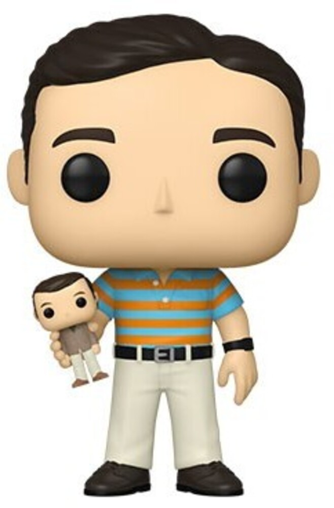 - FUNKO POP! MOVIES: 40 Y.O. Virgin- Andy holding Oscar (Styles May Vary)