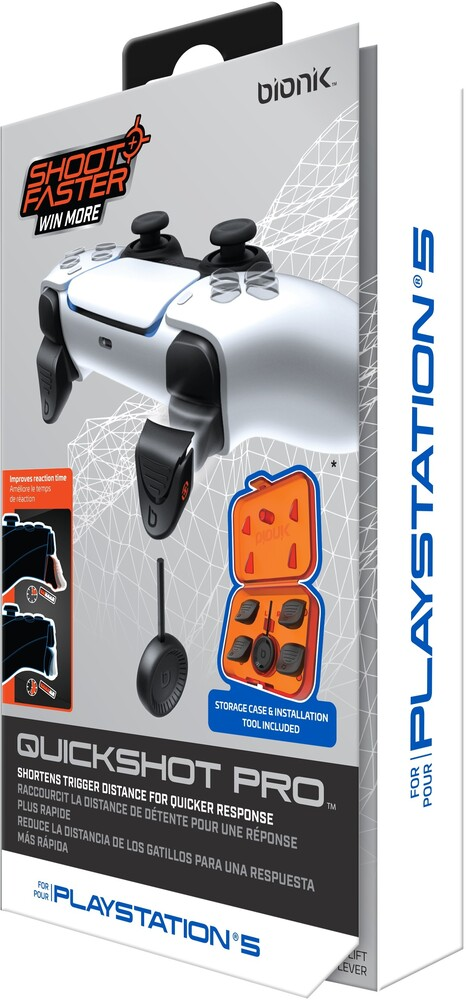 Bionik Quickshot Pro for Ps5 White - Bionik QuickShot Pro for PS5 - White