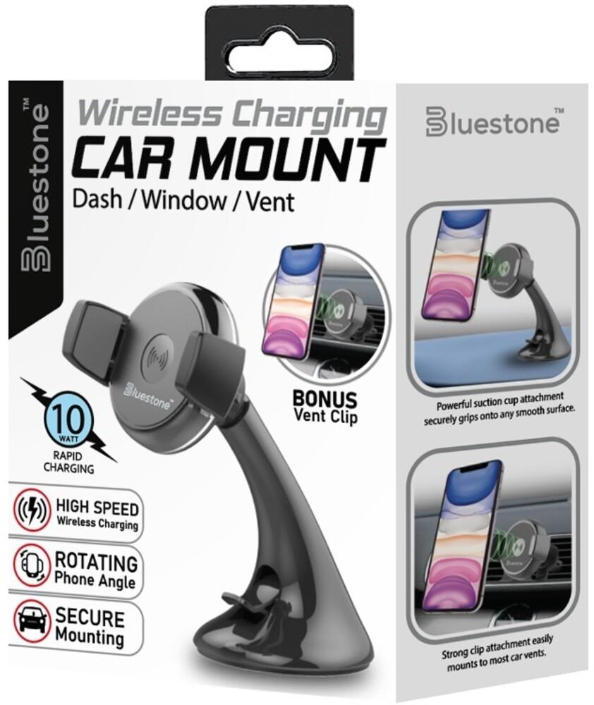 - Bluestone Mcw2bk 2/1 Wireless Car Charger 10w Blk