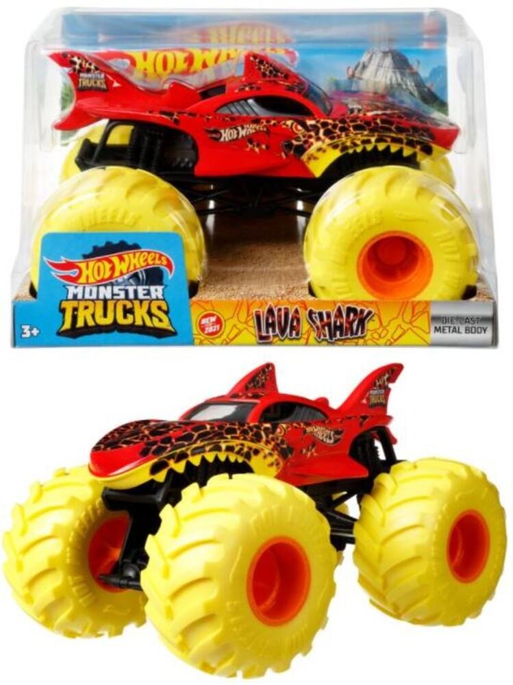 Hot Wheels Monster Truck - Hw Monster Truck 1:24 Lava Shark (Tcar)