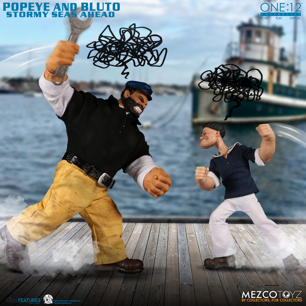 One:12 Collective Popeye & Bluto Stormy Seas Ahead - Mezco One:12 Collective Popeye & Bluto: Stormy Seas Ahead Deluxe BoxSet