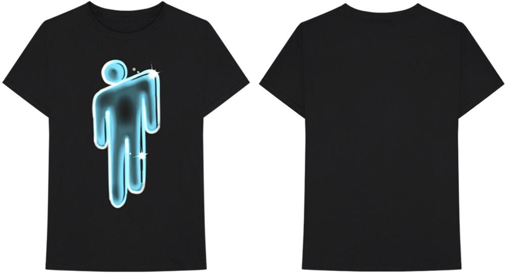 Billie Eilish - Billie Eilish Airbrush Blohsh Logo Black Unisex Short Sleeve T-shirt XL
