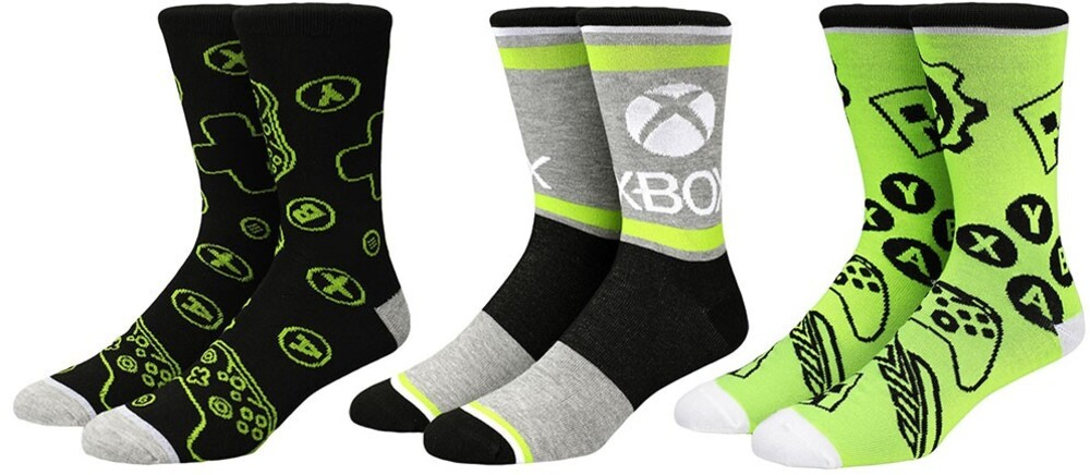 Xbox Crew Socks 3 Pack Men's Shoe Size 8-12 - XBOX Crew Socks 3 Pack Men's Shoe Size 8-12