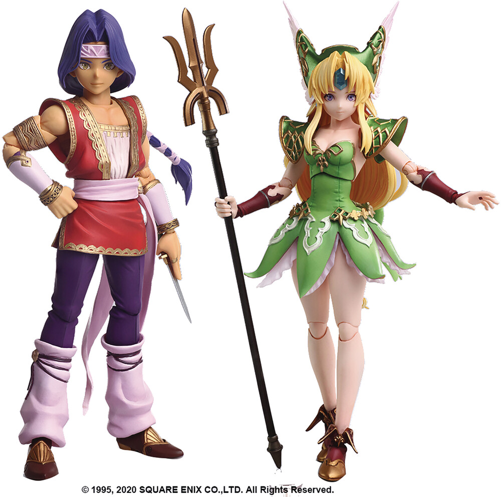 Square Enix - Square Enix - Trials Of Mana Bring Arts Hawkeye & Riesz Action FigureSet