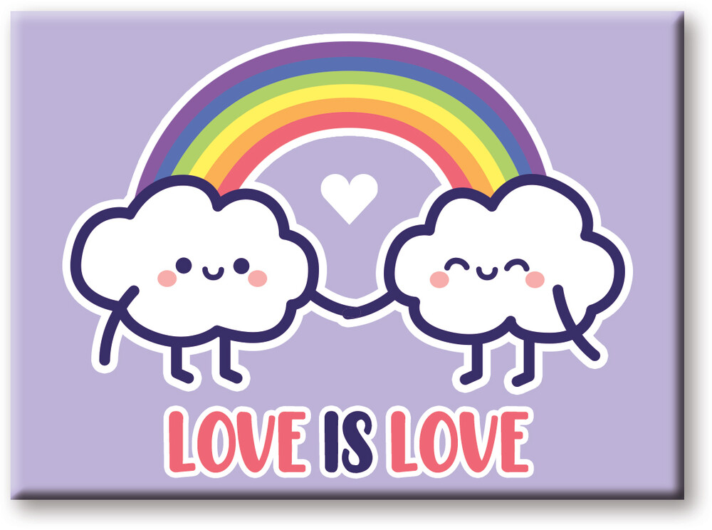 Pride Love Is Love 2.5 X 3.5 Flat Magnet - Pride Love is Love 2.5 x 3.5 Flat Magnet