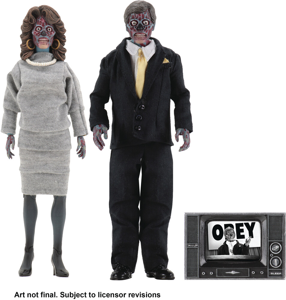 - NECA - They Live Aliens 8 Retro Action Figure 2 Pack