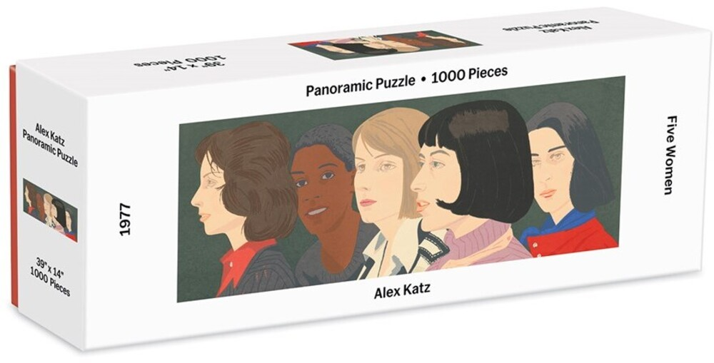 - MoMa Alex Katz Five Women Panoramic 1000 Piece Puzzle