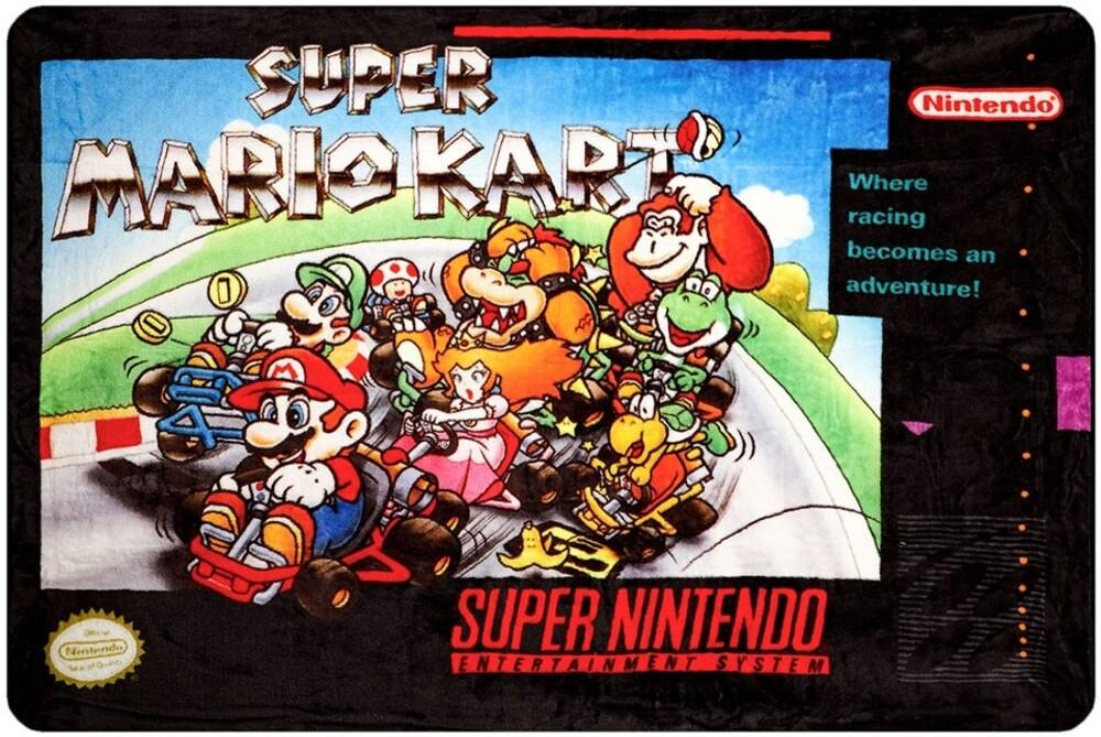 - Super Mario Kart Digital Fleece Polyester Throw
