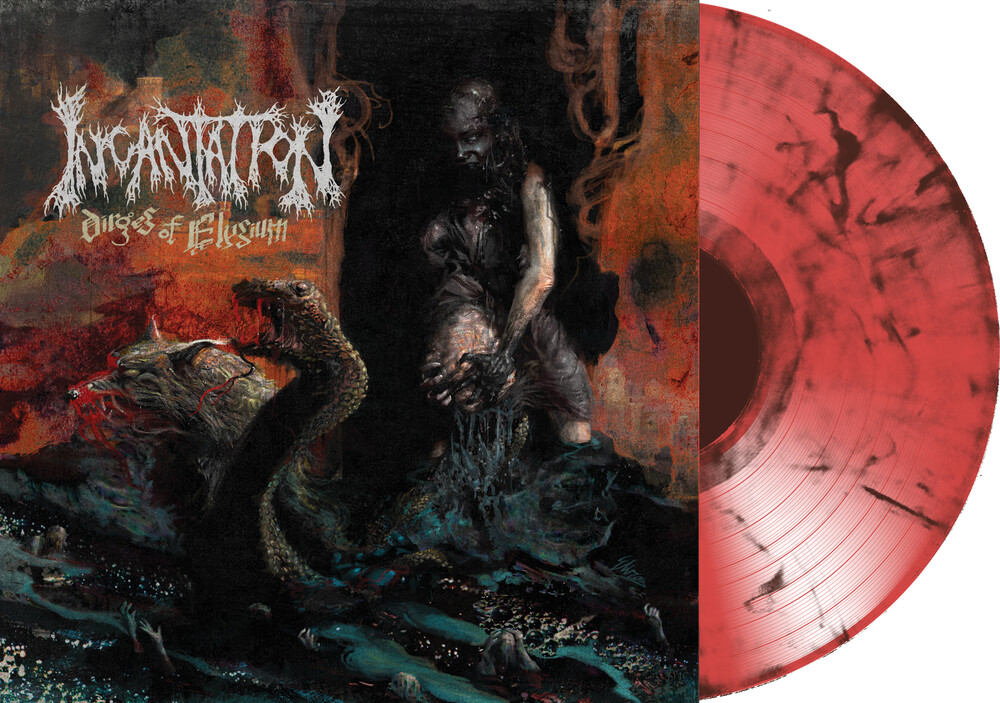 Incantation - Dirges of Elyzium (Transparent Red / Black Marble Vinyl)