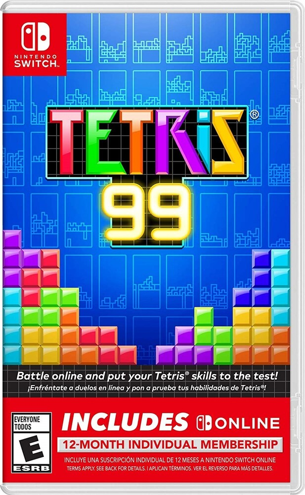 Swi Tetris 99 + 12 Month Online Membership - Tetris 99 + 12 Month Nintendo Switch Online Individual Membership for Nintendo Switch