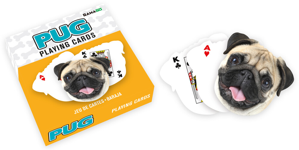 Pug Shaped Playing Cards Deck - Pug Shaped Playing Cards Deck